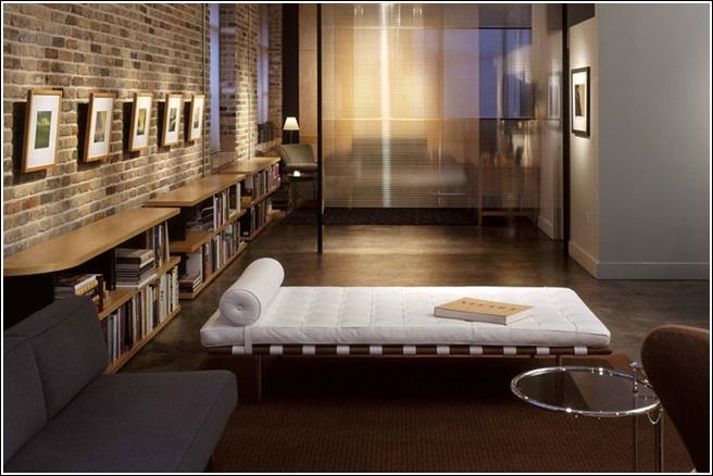 d coration int rieure avec des murs en briques d cor de. Black Bedroom Furniture Sets. Home Design Ideas