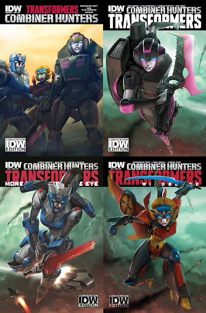 San Diego Comic-Con 2015 Exclusive Transformers Combiner Hunters #1 Variant Covers Artwork