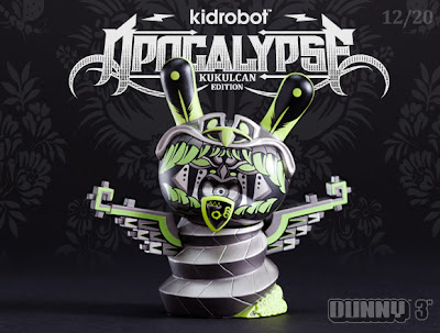 Kidrobot Apocalypse Dunny Series - Shadow Edition Kukulcan 3 Inch Dunny by Jesse Hernandez
