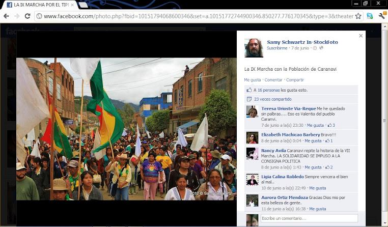 Entrada de la IX marcha indigena a Caranavi
