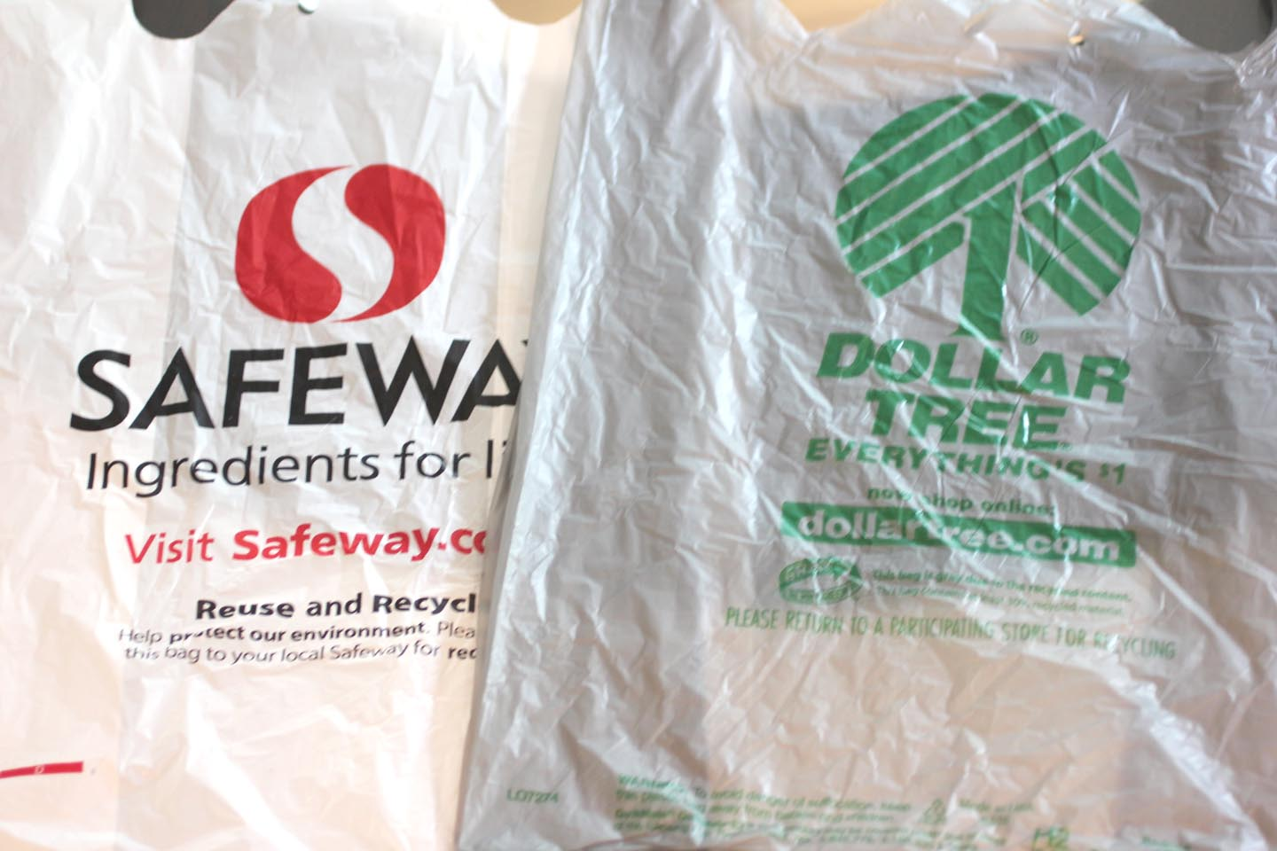 I Used About 50 Safeway Bags One Bag Rox Row And 4 Dollar Tree