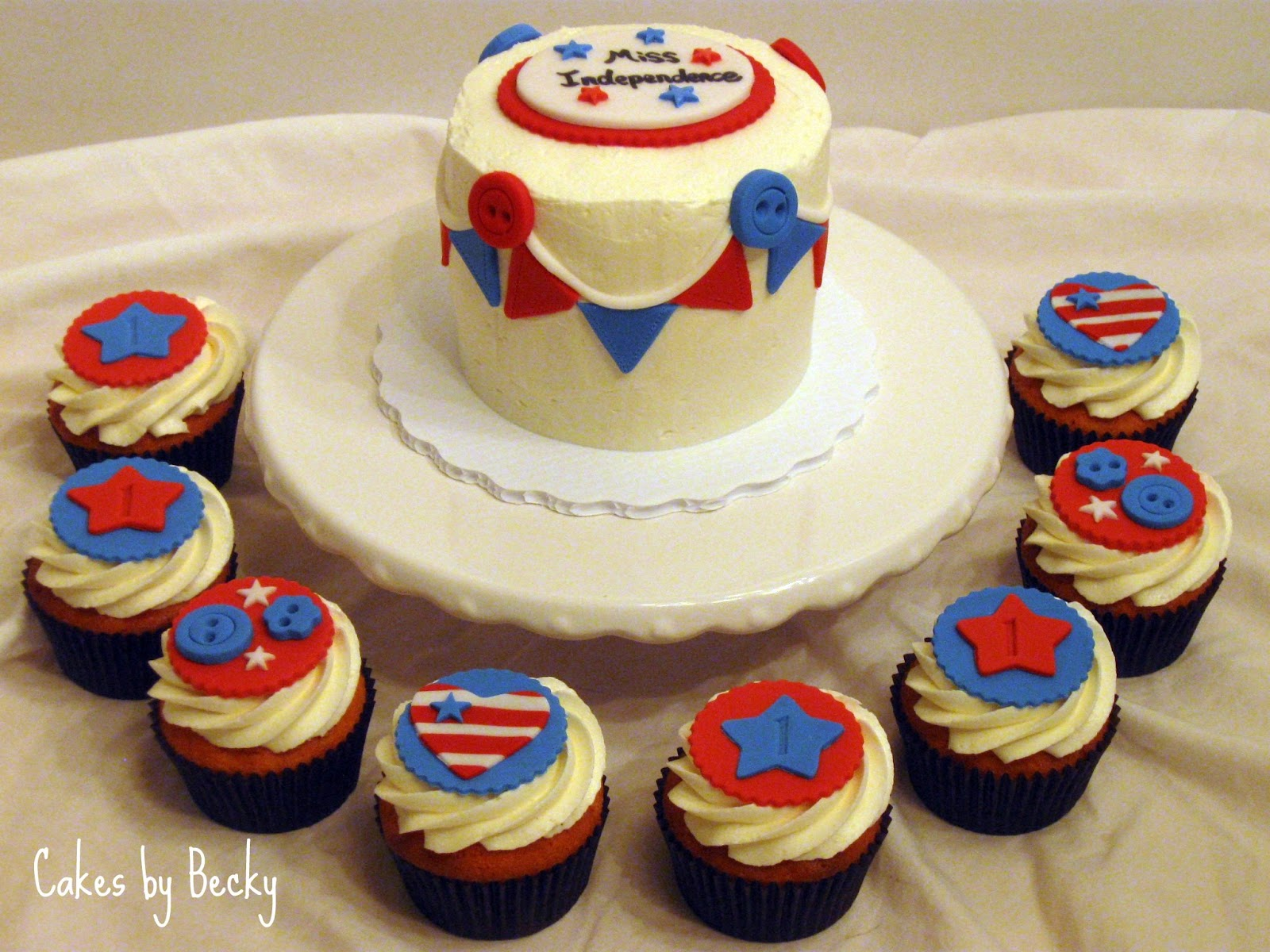 Cakes By Becky 4th Of July First Birthday