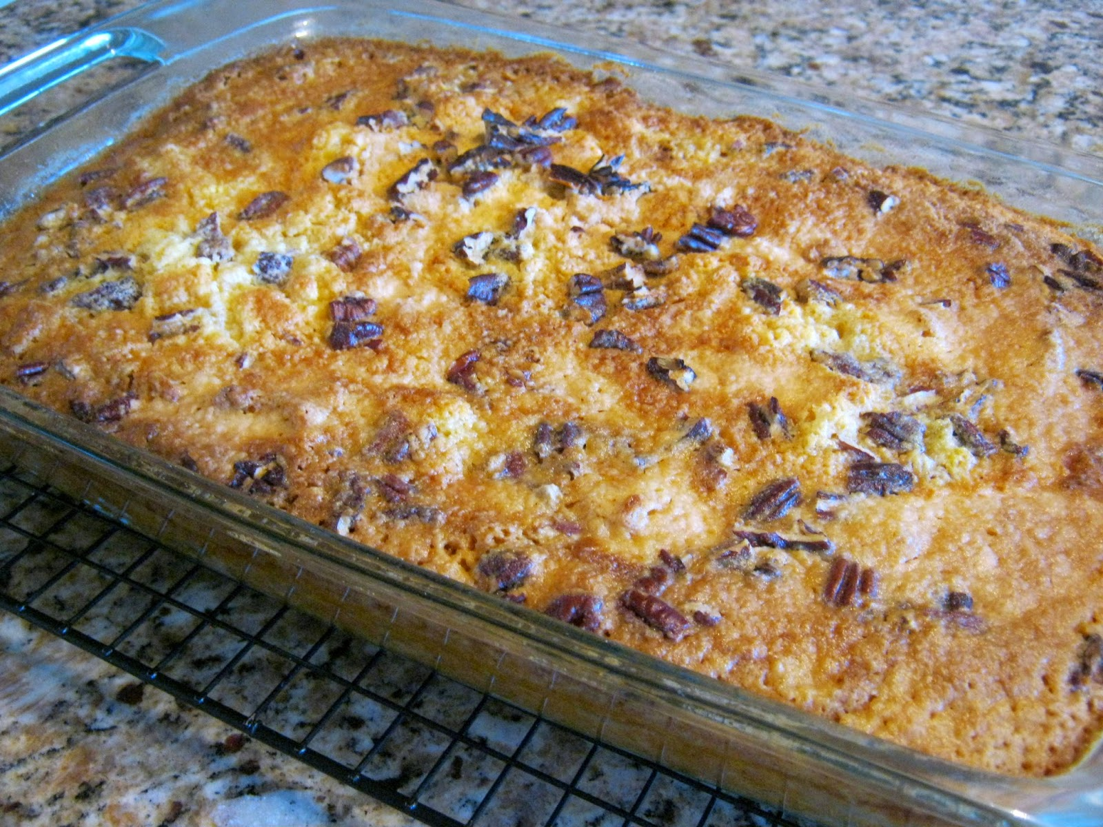 Bake at 350 degrees 50-55 minutes, until golden brown.