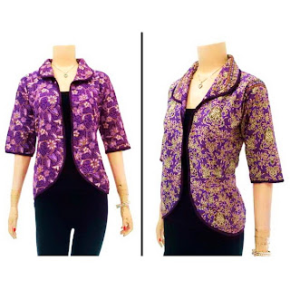 DBT2633 Model Baju Blouse Batik Modern Terbaru 2013