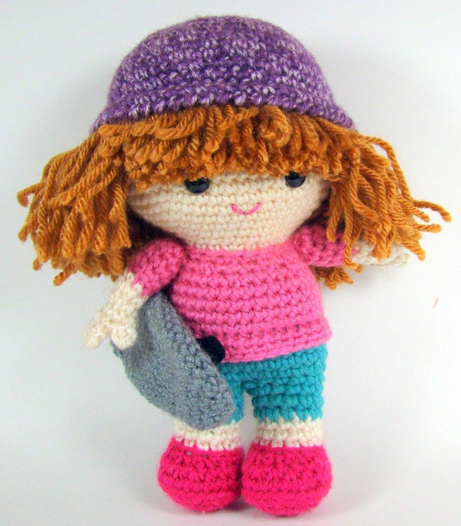 Amigurumi Crochet Patterns K And J Dolls : Sandy the Skate Grrrl - Sayjai Amigurumi Crochet Patterns ...