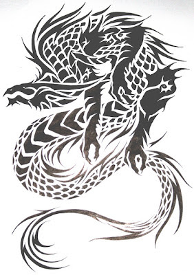 Gambar Tattoo Naga Triba