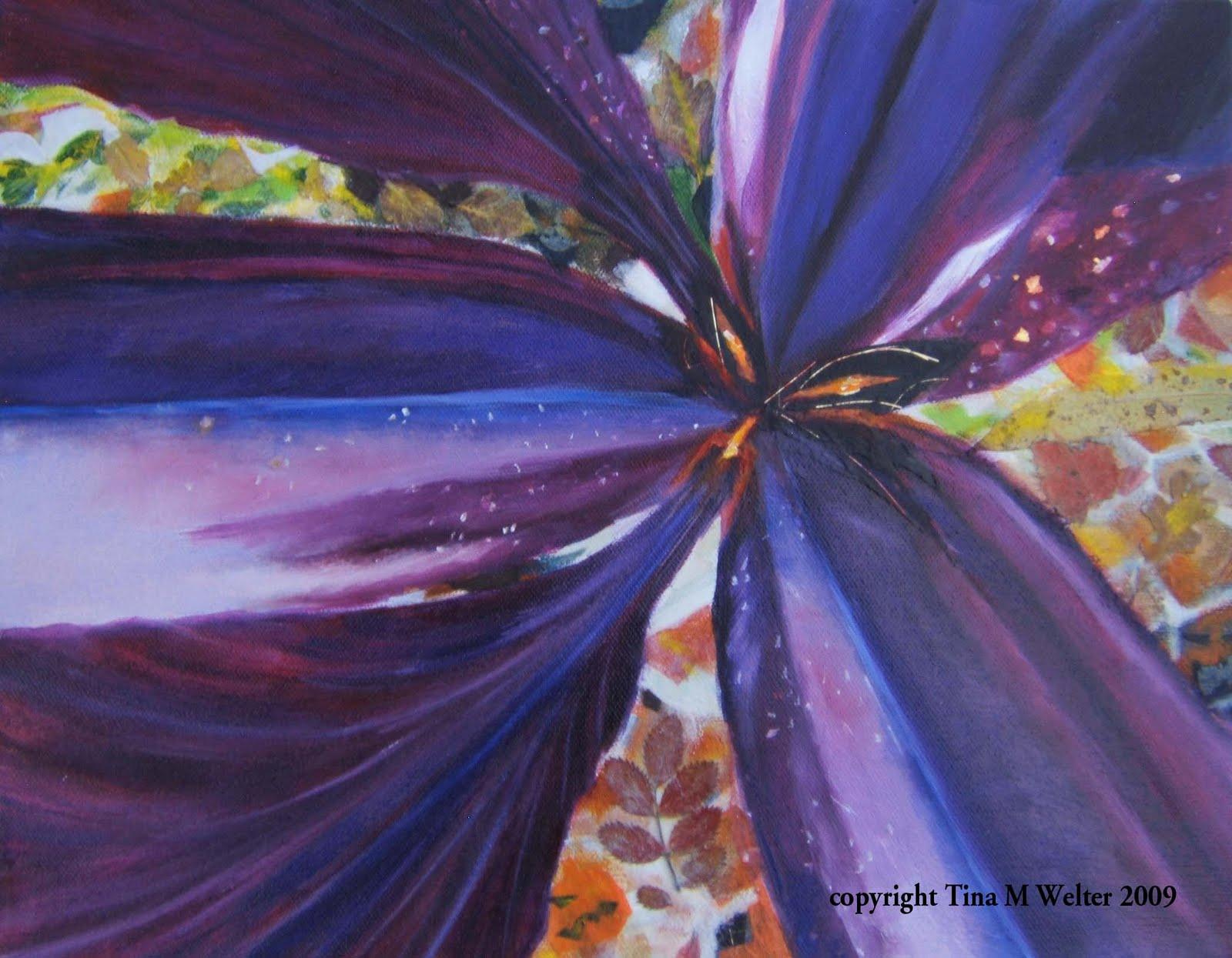 "11""x 14"" oil, acrylic, mixed media on canvas, c.2009 Tina M. Welter"