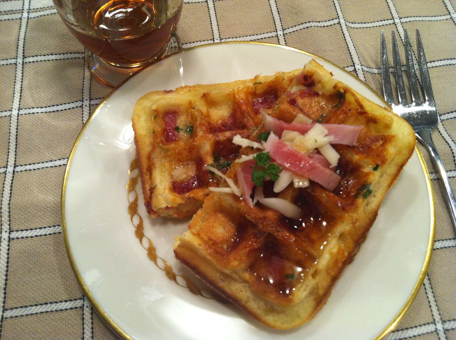 recently saw this concept for ham and cheese waffles as an homage to ...