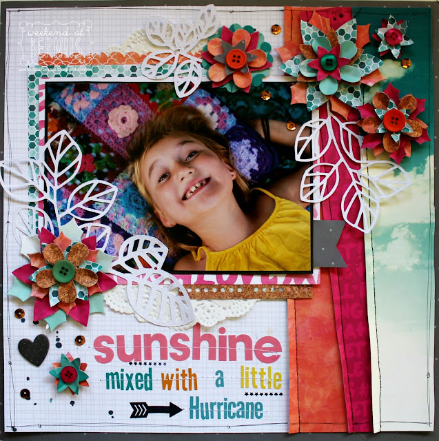 Sunshine layout by Bernii Miller using the Forever Young collection.