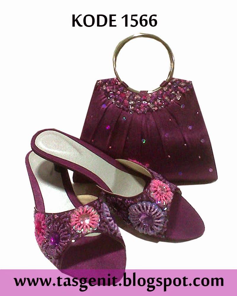 tas pesta cantik, clutch bag terbaru, sepatu pesta cantik, sandal pesta, selop pengantin