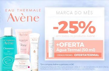 Marca do Mês | SETEMBRO| Avène -25% em TODOS os produtos