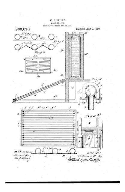 Un dels primers escalfadors solars de la història