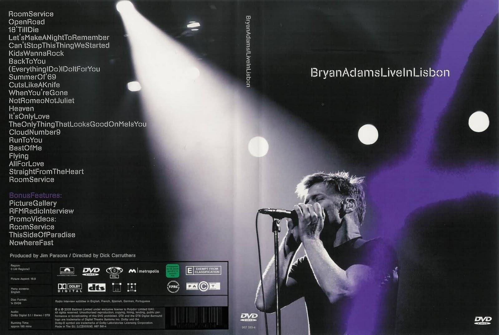 De volta para o passado bryan adams live in lisbon 2005 - Bryan adams room service live in lisbon ...