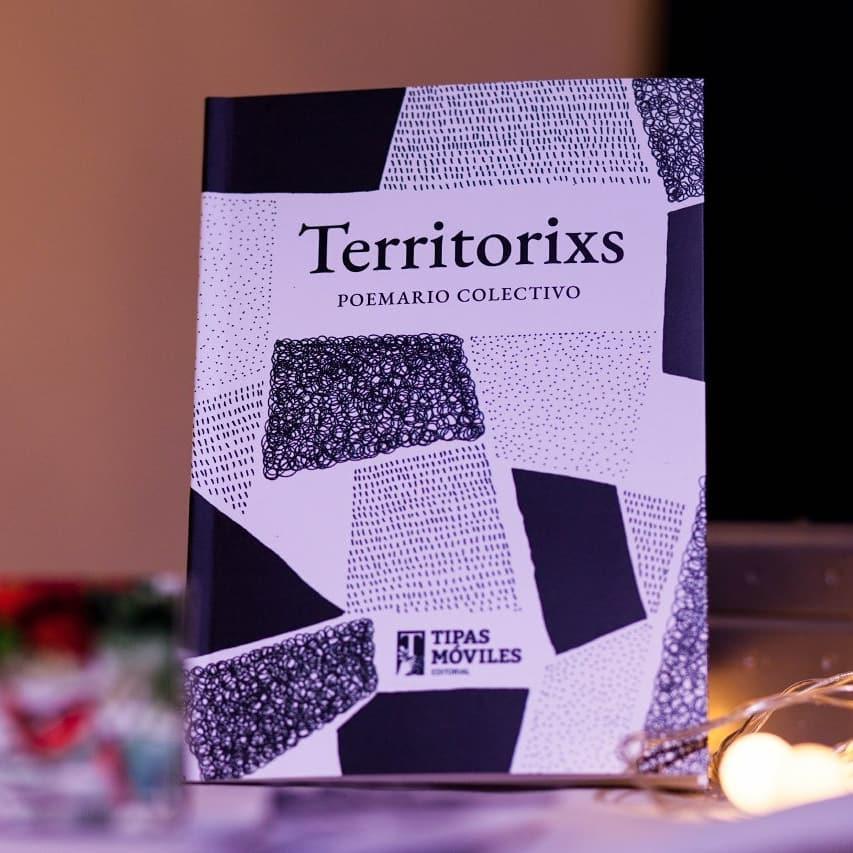 """""""Territorixs"""" poemario colectivo del cual formo parte. Editado por Tipas Móviles"""