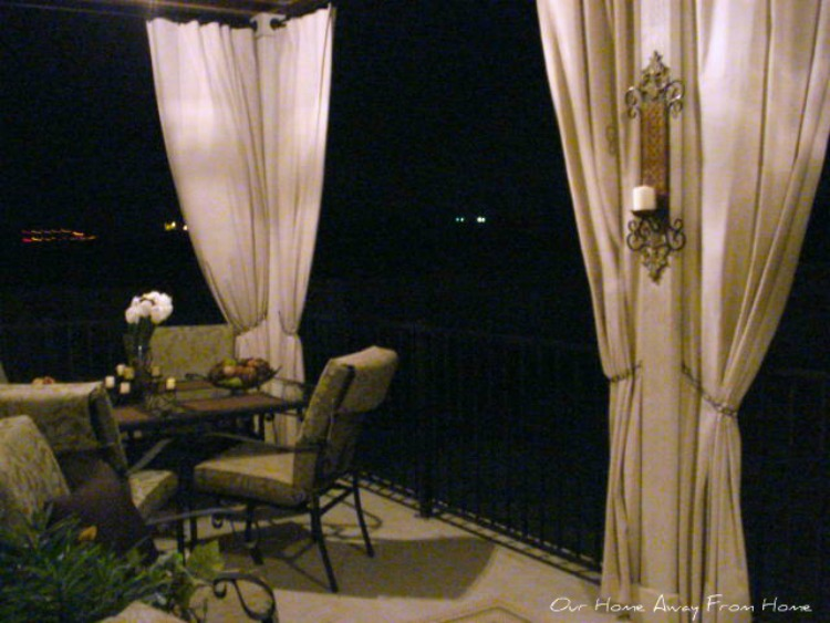 Our Home Away From Home: NO SEW CANVAS DROP CLOTH OUTDOOR CURTAINS