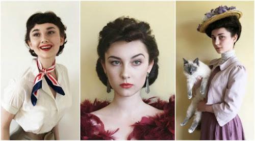 Instagrammer de 17 anos se transforma em glamurosas mulheres Vintage