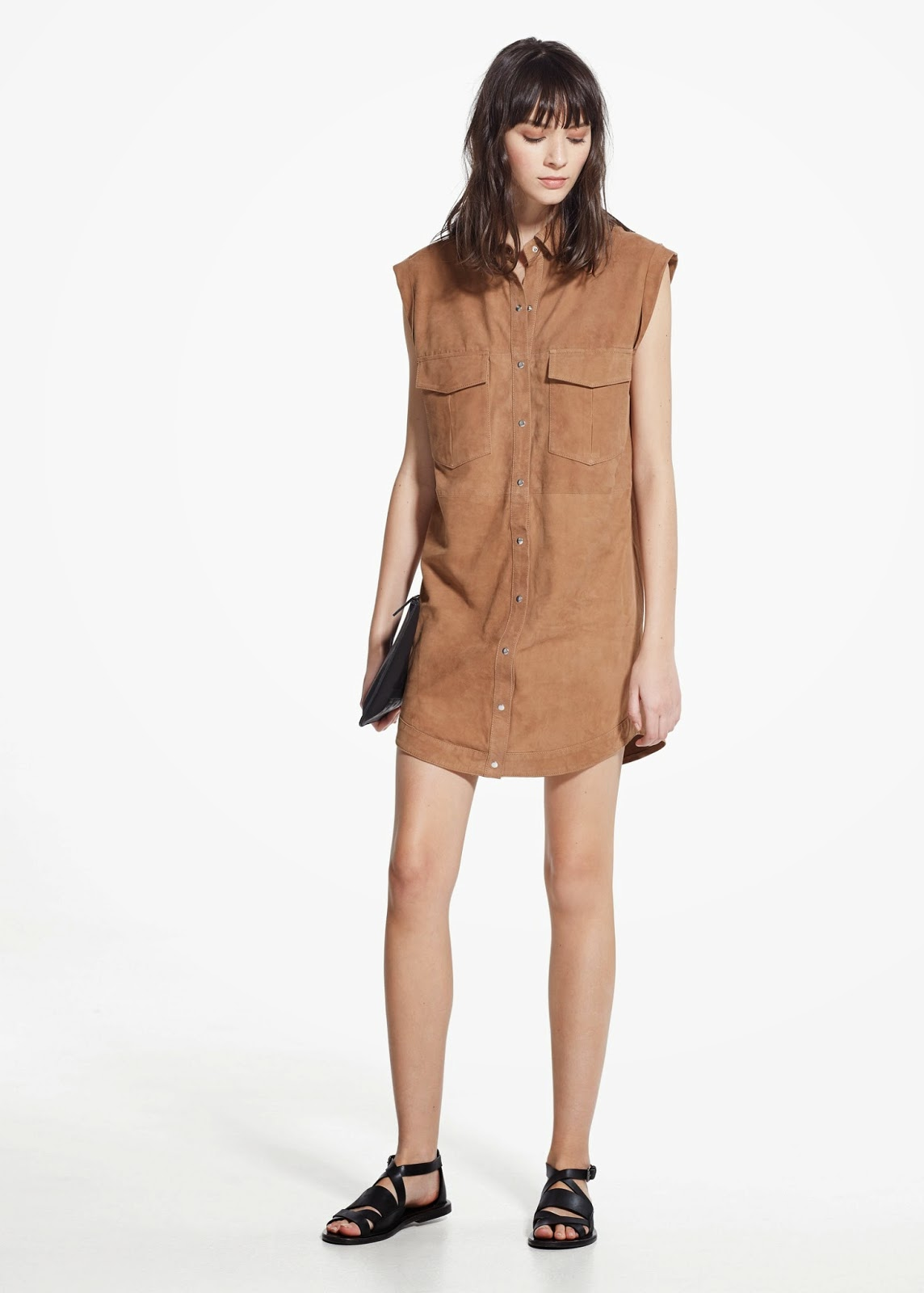 mango suede dress