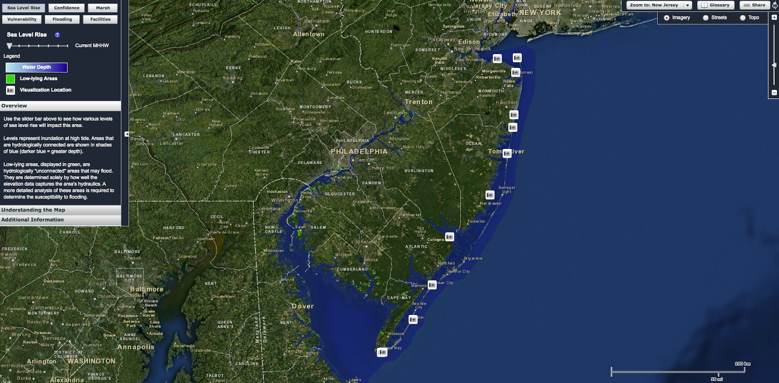 geogarage interactive flood map predicts sea level rise