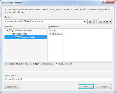 Add web Service ASMX reference to our client