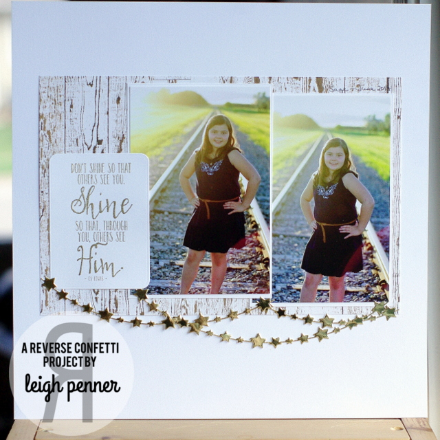 Countdown to Confetti: Circle Sentiments & God is Good Leigh Penner @reverseconfetti #reverseconfetti  #scrapbookinglayouts @bazzillbasics #bazzillbasics