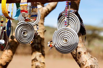 Masai tribal jewelry, beads, metalwork
