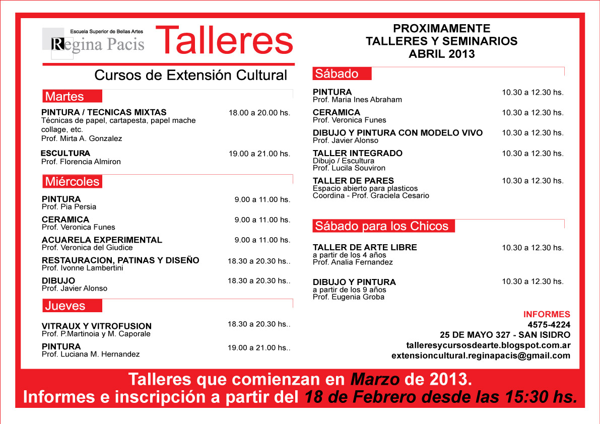 Febrero 2013 for Escuela superior de artes