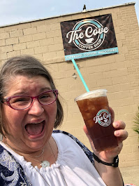 2020 The Cove Coffee Shop, Mango Peach Nitro Tea, Ontario OH