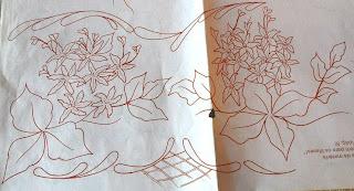 Risco para pintura em tecidos-Lilases