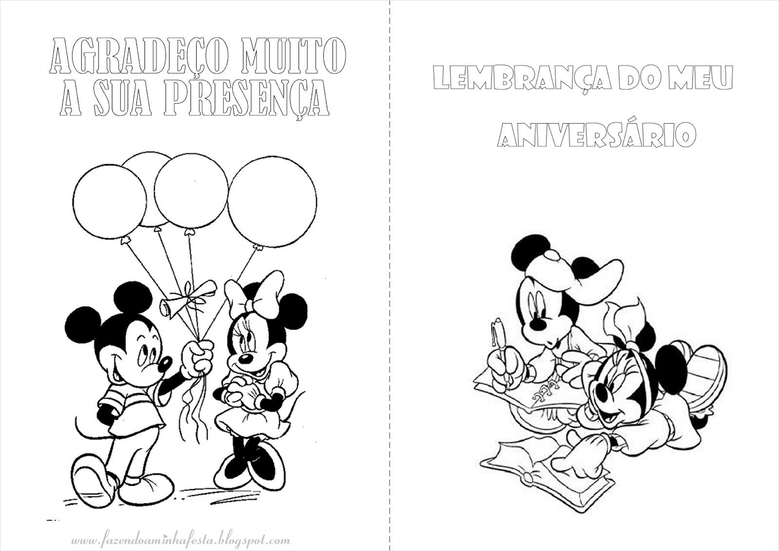 Desenhos para colorir Mickey e Minnie - imagens para colorir minnie e mickey