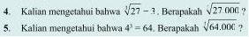 Soal Matematika SD Kelas 6 - Akar Pangkat Tiga