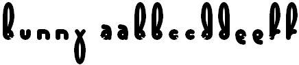 bunny tipografia para pascua gratis