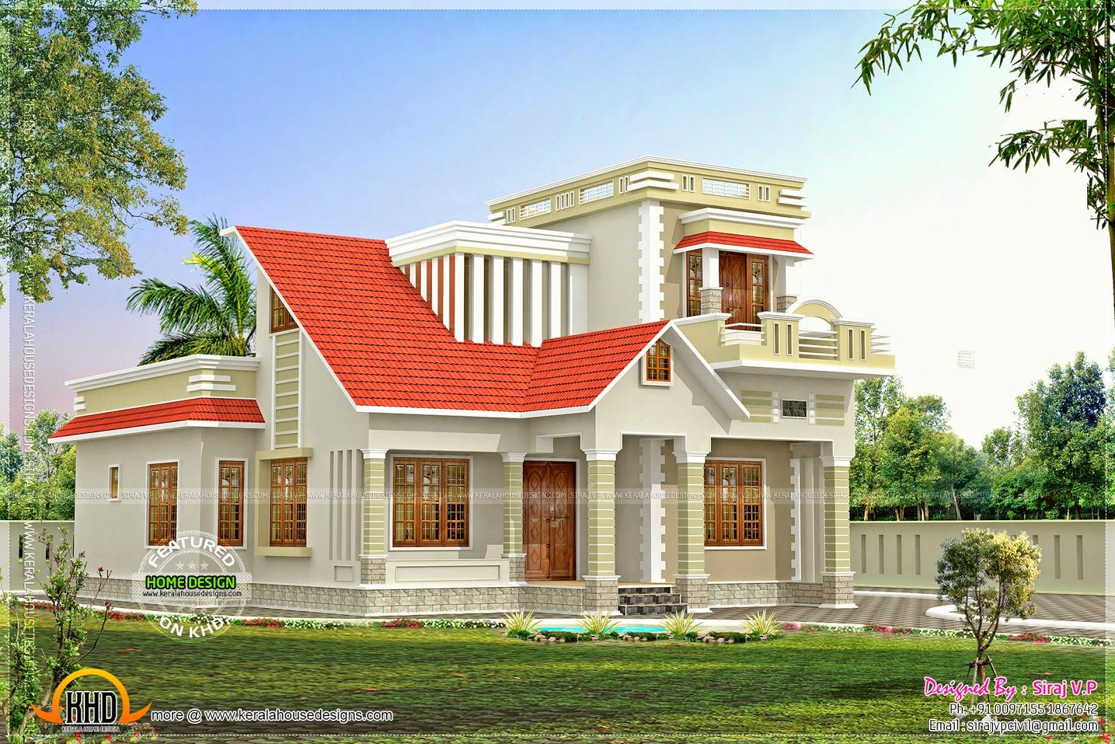 Small Budget Modern Mix Kerala Style Design Kerala Home