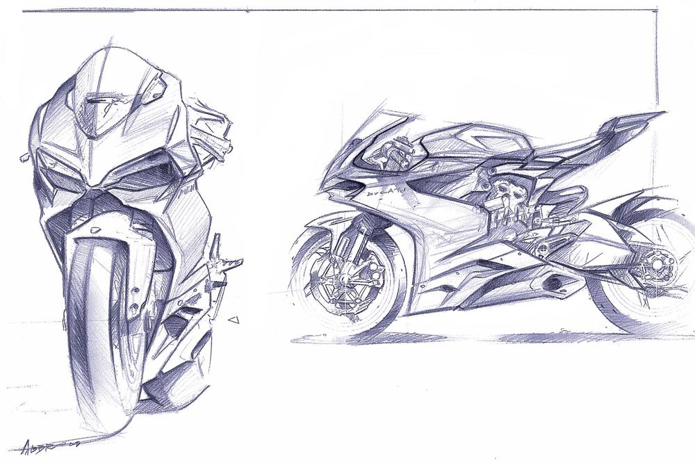 Vault ducati 1199 sketches