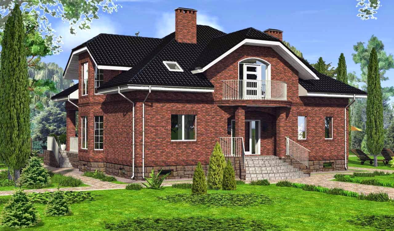 Мансардный дом проект фото