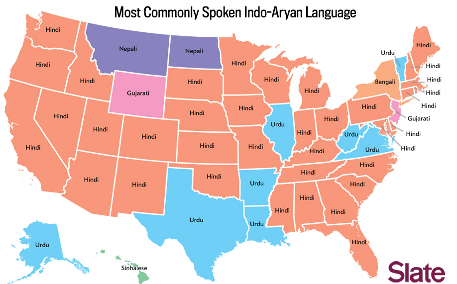 Most commonly spoken Indo-Aryan languge