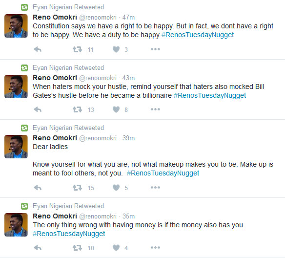 Reno Omokri Drops Some Nice, Inspirational Quotes On Twitter