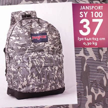 jual online tas jansport murah motif army/ loreng
