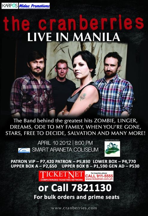 The Cranberries - They're Coming to Manila