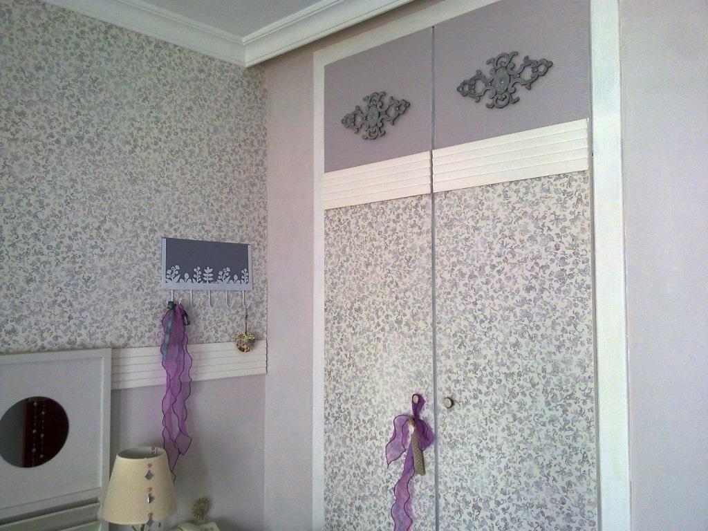 Diy x4duros 39 13 cambio de look total de un armario ropero for Papel pintado para puertas de armario