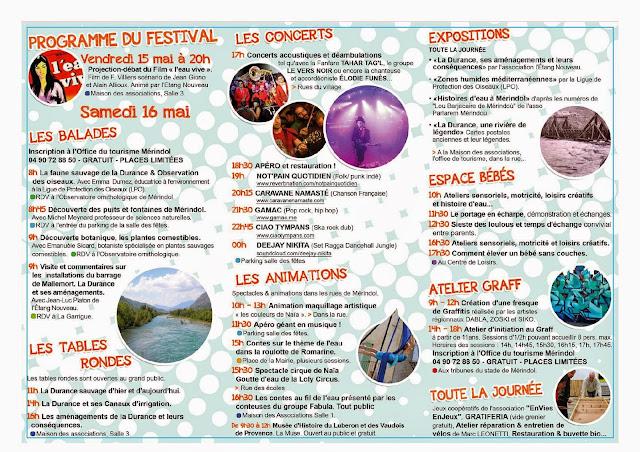 Programme du festival de Mérindol 2015 : Mindeoù Fest'