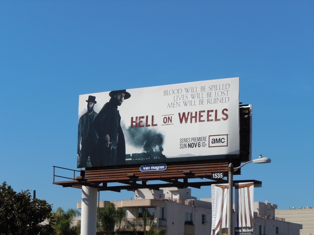 Hell on Wheels TV billboard