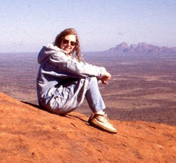 Teri at Ayers Rock/Uluru in the Outback