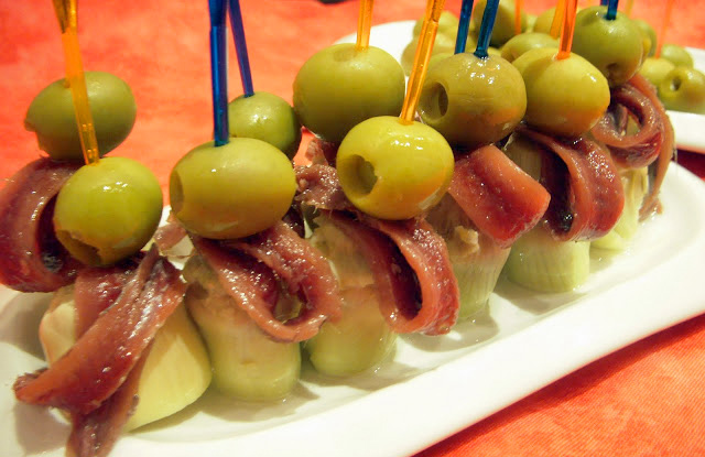 pinchos con anchoas