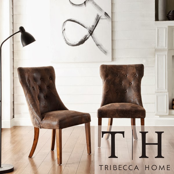 OVERSTOCK TRIBECCA HOME ATELIER TRADITIONAL FRENCH BURNISHED BROWN OAK DINING CHAIR
