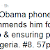 US President Obama phones Jonathan, commends him for his statesmanship