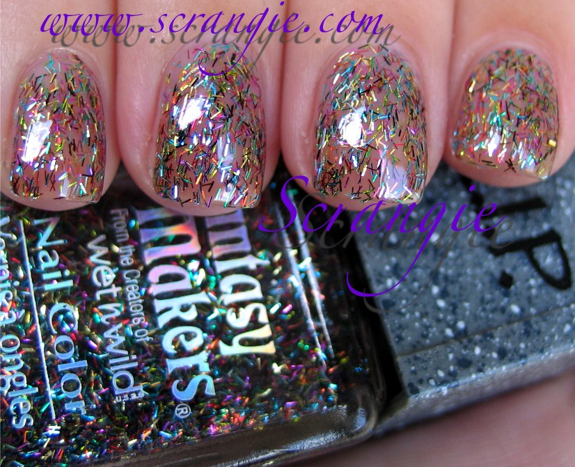 It S A Very Fine Bar Glitter Stringy In Rainbow Of Colors Suspended Clear Base One My Favorite Glitters