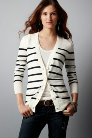 Stylish black lined cardigan with white shirt