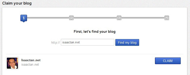 "Step# 2: ""Find my blog"""