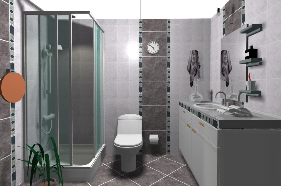 Baño Porcelanato Gris ~ Dikidu.com