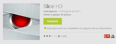 Juego Slice HD, imagen de Google Play